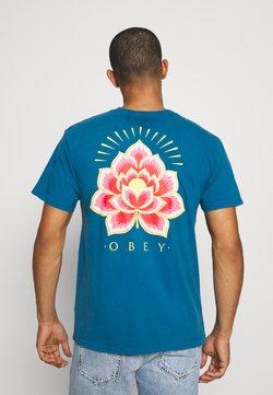 Obey Clothing - RADIANT LOTUS - T-shirt print - blue sapphire