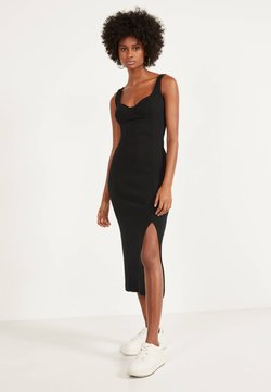 Bershka - Strickkleid - black