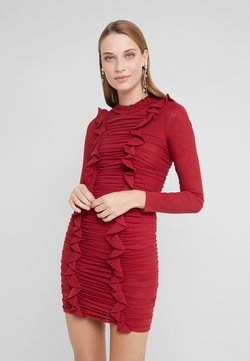 Needle & Thread - RUFFLE MINI DRESS - Sukienka etui - deep red