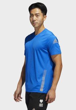 adidas Performance - 25/7 RISE UP N RUN PARLEY T-SHIRT - Printtipaita - blue