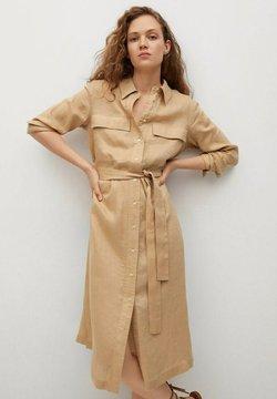Mango - Sukienka koszulowa - beige