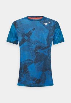 Mizuno - AERO TEE - Camiseta estampada - mykonos blue