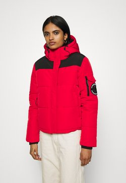 Superdry - QUILTED EVEREST JACKET - Winterjacke - high risk red
