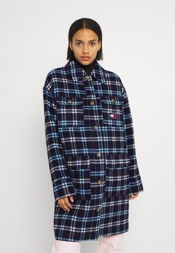 Tommy Jeans - CHECK WOOL COAT - Krótki płaszcz - twilight navy/multi check