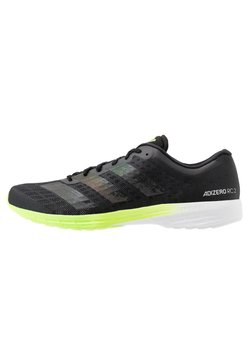 adidas Performance - ADIZERO BOUNCE SPORTS RUNNING SHOES - Zapatillas de competición - core black/signal green