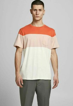 Jack & Jones PREMIUM - JPRBLAREPEAT TEE CREW NECK - T-Shirt print - mecca orange