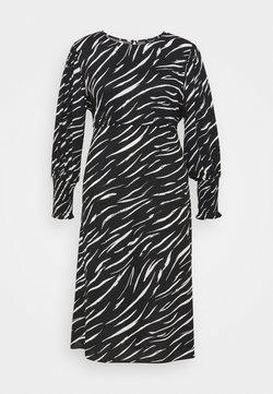 New Look Curves - SHIRRED DETAIL MIDI DRESS - Maxikleid - black pattern
