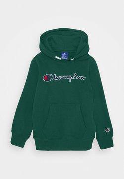 Champion - ROCHESTER LOGO HOODED  - Bluza z kapturem - dark green