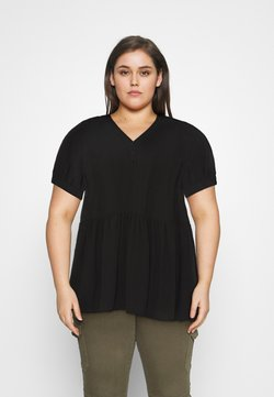 Selected Femme Curve - SLFABI SHORT DRESS - Day dress - black