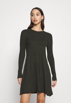 ONLY - ONLALMA O NECK DRESS - Strickkleid - rosin