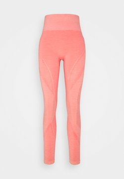 Hummel - HMLJOY SEAMLESS HIGH WAIST TIGHTS - Tights - sugar coral melange