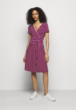 Lauren Ralph Lauren - PRINTED MATTE DRESS - Jerseykleid - navy/aruba pin