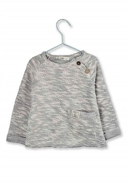 Cigit - Button Detailed Sweatshirt with Pocket (1 to 5 years) - Neule - beige