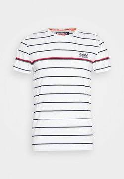 Superdry - BRETTON STRIPE TEE - Print T-shirt - optic
