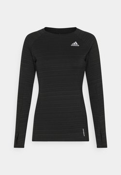 adidas Performance - ADI RUNNER - Funktionsshirt - black/reflective silver