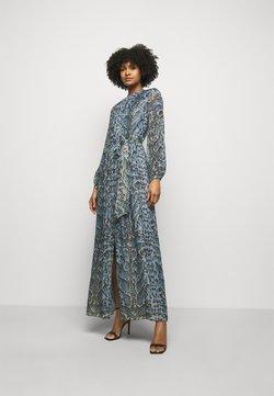 Temperley London - OCELOT PRINTED DRESS - Shirt dress - powder blue