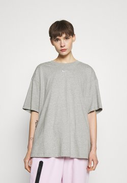 Nike Sportswear - PLUS - T-shirts - grey heather/white