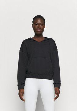 Nike Performance - CORE COLLECTION COVERUP - Jersey con capucha - black/smoke grey