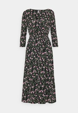 ONLY Petite - ONLPELLA DRESS - Kjole - black/flowering vines