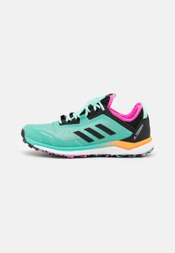 adidas Performance - TERREX AGRAVIC FLOW RUNNING - Zapatillas de trail running - acid mint/core black/screaming pink
