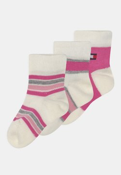 Tommy Hilfiger - BABY NEWBORN STRIPE GIFTBOX 3 PACK UNISEX - Calcetines - pink
