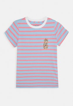 J.CREW - STRIPED CRITTER TEE - T-shirt imprimé - blue