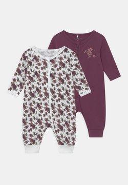 Name it - NBFNIGHTSUIT ZIP 2 PACK - Pijama - prune purple