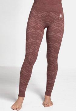 ODLO - Tights - roan rouge melange