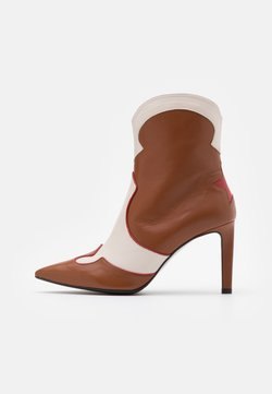 Billi Bi - High Heel Stiefelette - red/offwhite