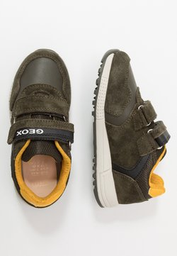 Geox - ALBEN BOY - Sneakers laag - military/yellow