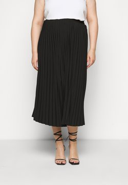 Selected Femme Curve - SLFLEXIS MIDI SKIRT - A-Linien-Rock - black