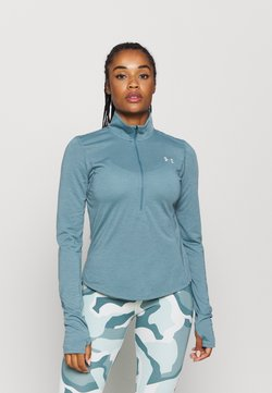 Under Armour - STREAKER HALF ZIP - Funktionsshirt - lichen blue