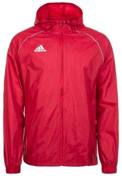 adidas Performance - CORE ELEVEN FOOTBALL JACKET - Hardshelljacke - red/white