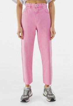 Bershka - Straight leg -farkut - neon pink