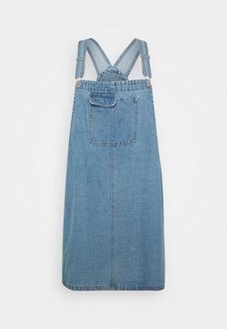 Cotton On Curve - UTILITY PINAFORE - Jeanskleid - brunswick blue