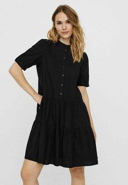 Vero Moda - STEHKRAGEN - Abito a camicia - black