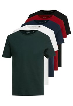 Burton Menswear London - BASIC CREW 5 PACK - Basic T-shirt - white