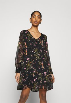 JDY - V-NECK DRESS  - Robe d'été - black