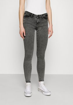 ONLY - ONLCORAL LIFE POWER BOX - Jeans Skinny Fit - grey denim