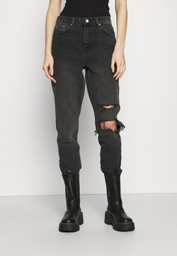 Topshop - WASHED BLACK SEOUL RIP MOM - Relaxed fit jeans - washed black