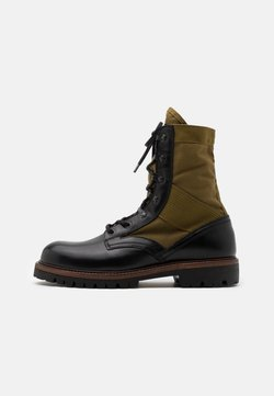 Belstaff - TROOPER BOOT - Schnürstiefelette - black