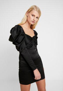 House of Holland - VOLUME SLEEVE MINI DRESS - Cocktail dress / Party dress - black