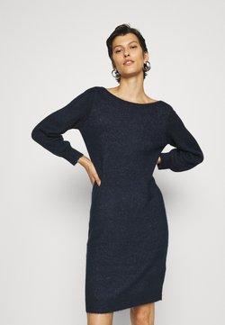 Vero Moda Tall - VMLEFILE BALLOON 3/4 BOATNECK DRESS TALL - Vestido de punto - navy blazer