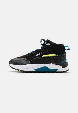 Puma - X-RAY 2 SQUARE MID WTR UNISEX - Sneaker high - black/blue/fizzy yellow