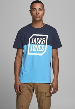 Jack & Jones - Print T-shirt - sky captain