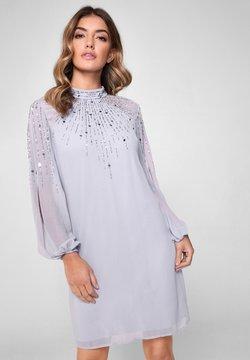 Lipsy - EMBELLISHED LONG SLEEVED SHIFT DRESS - Etui-jurk - blue