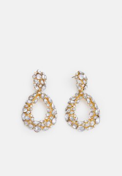 Pieces - PCMARTA EARRINGS - Earrings - gold-coloured/clear