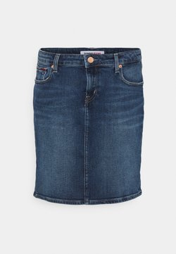 Tommy Jeans - CLASSIC SKIRT - Minirock - dark blue denim