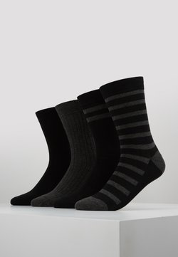 DIM - CREW SOCKS ECO DIM STYLE 4 PACK - Socken - black/grey