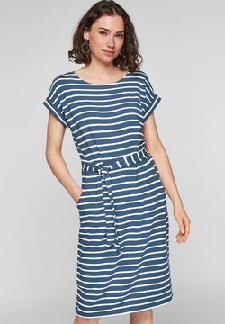 s.Oliver - ROBE  - Freizeitkleid - faded blue stripes